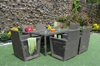 Extraodinary Design Patio Garden 6 Seaters Dining Set Poly Rattan Wicker Furniture