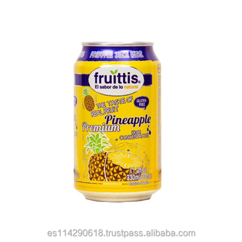 Fruittis Pineapple Juice Drink canned 4x6x33cl