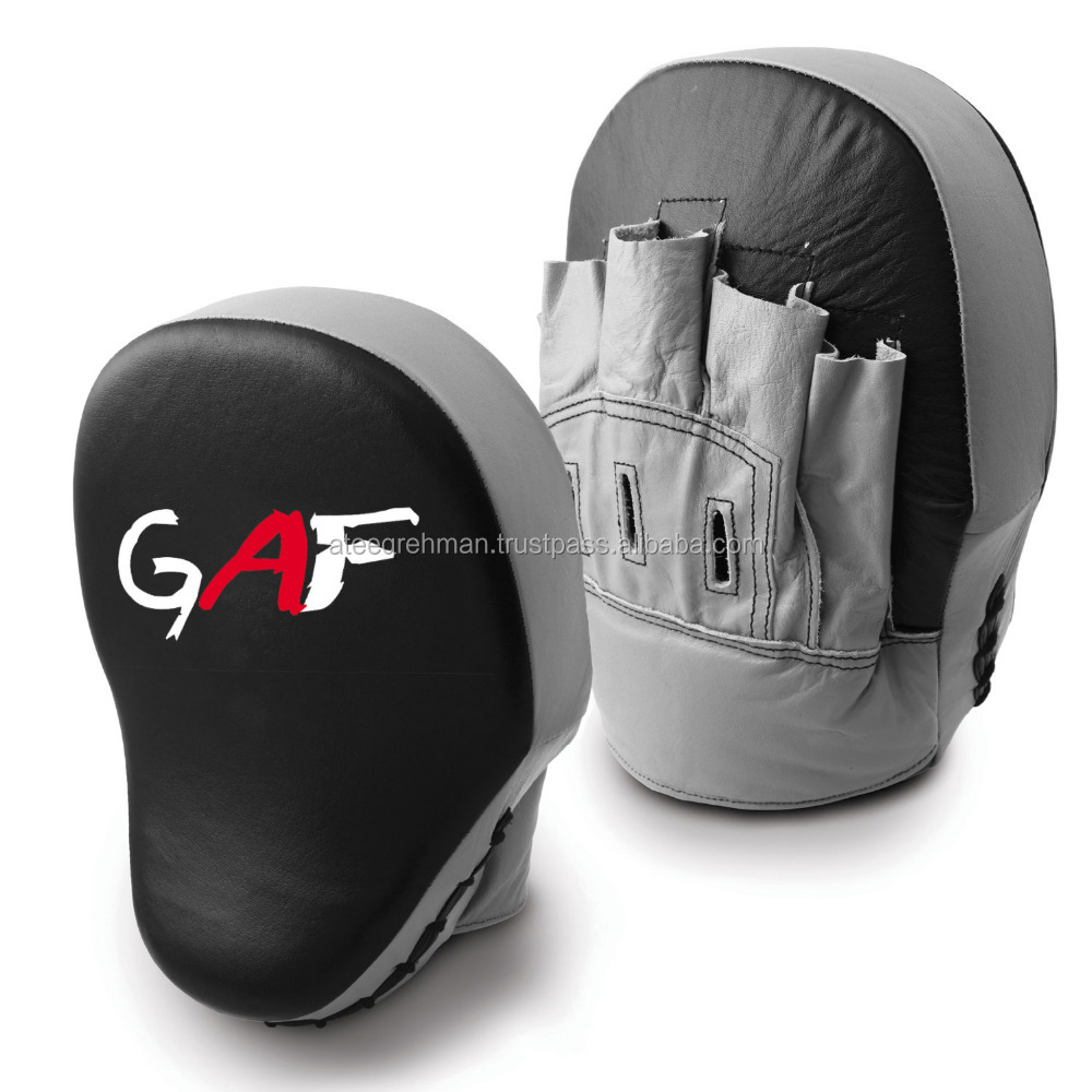 GAF Curved Focus Pads Mitts,Hook and LOOP ,Punch Bag Kick Boxing Muay Thai MMA