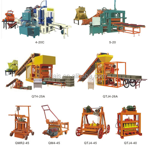 Guangzhou Block Machine QTJ4-26A Automatic Hollow Concrete Brick Making Machine