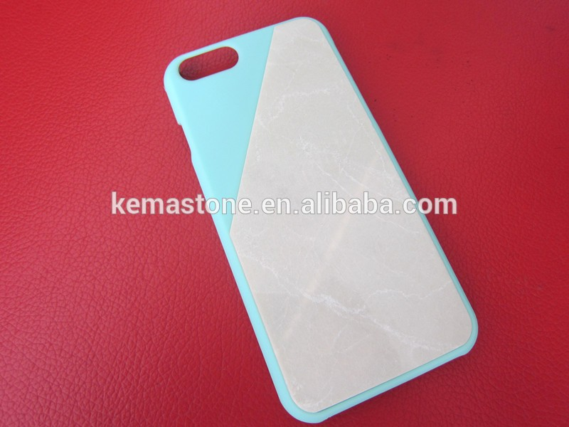 Thin Real Natural Stone Veneer Sheet Wholesale Marble Mobile Phone Case for Iphone Cell Phone