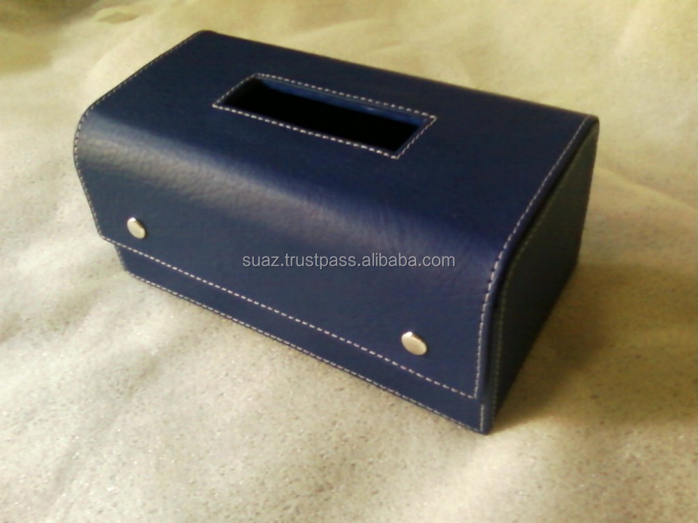 Leather Napkin box , Home Car Rectangle PU Leather Tissue Box Cover , Leather Fancy Tissue Box PU Cheap Napkin Box