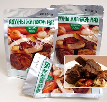 Mongolian Stewed Horse Meat, natural meat product