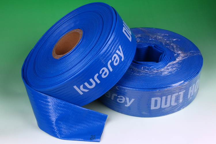 PVC irrigation water hose for general and agricultural use. Manufactured by Kuraray. Made in Japan (3 inch irrigation hose)