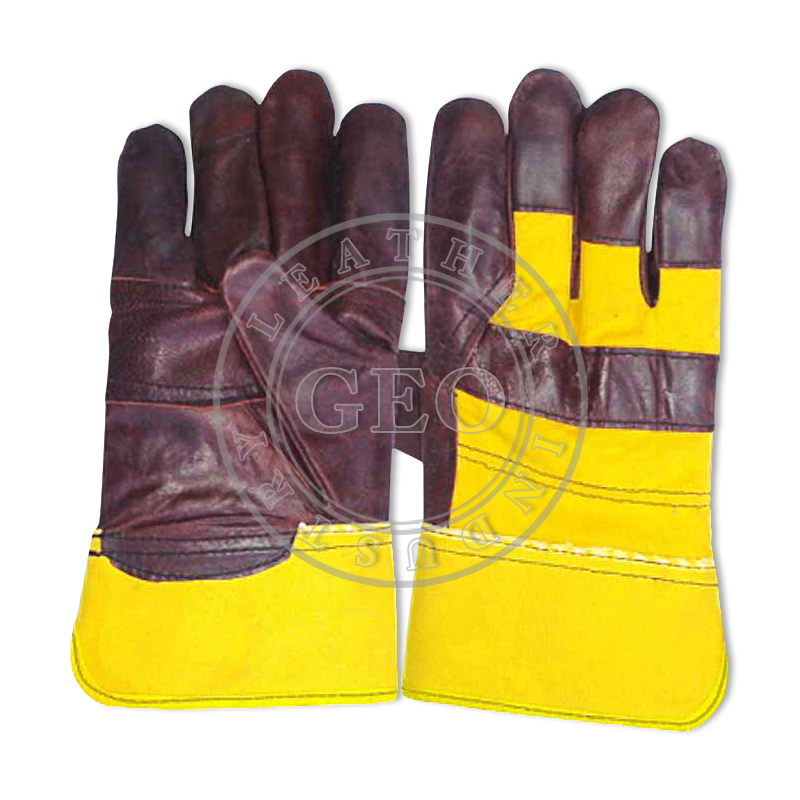 Work Protective Industrial Furniture Rigger Leather Gloves