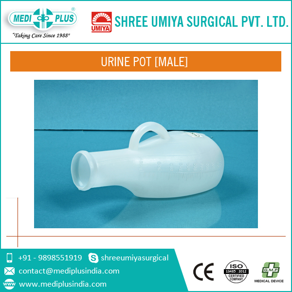 Male Urine Pot with Easy carry handle
