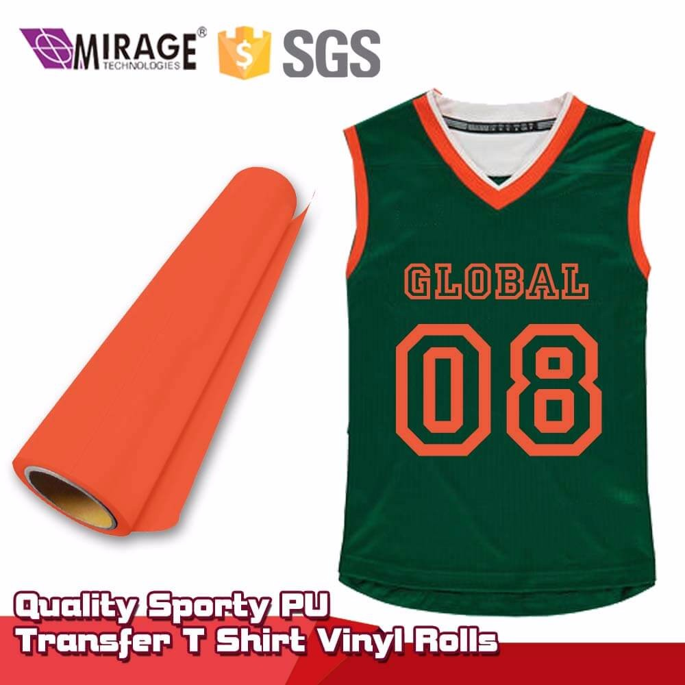 Quality Sporty PU Transfer T Shirt Vinyl Rolls