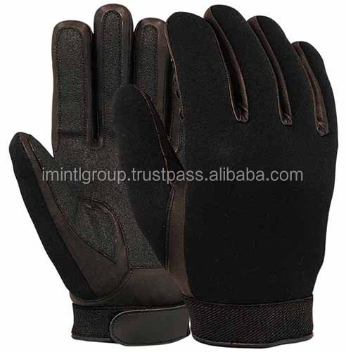 Tactical Police Search Gloves, Patrolling Gloves, Neoprene Specialist Shooting Police Frisking Glove