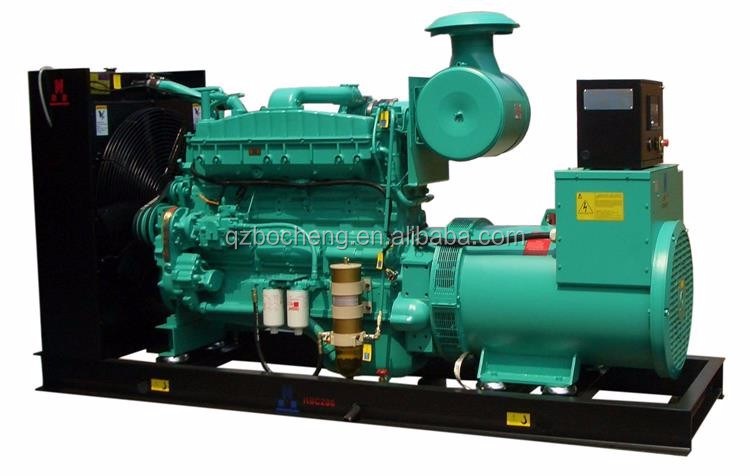 Made in china noise free generator powered by diesel engine 400kw / 500kva