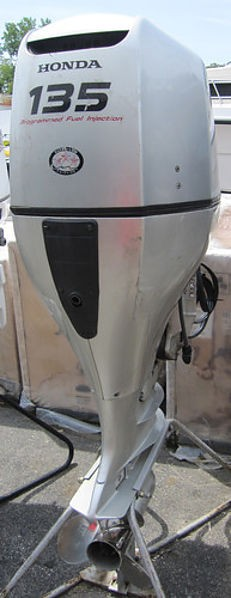 FREE SHIPPING FOR USED HONDA 135 HP 4-STROKE OUTBOARD MOTOR ENGINE