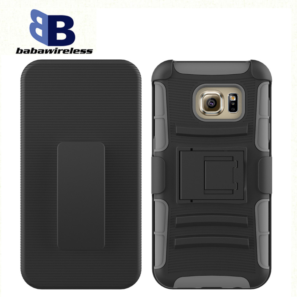 Custom design mobile phone silicon case, robot case hybrid kickstand with 3in1 fuction protective phone case