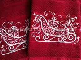 100% cotton hand towel with embroidery
