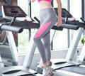 Sports Wear Athletic Gym Workout Fitness Wear Yoga Wear Capri Compression Wear Thermal Tights, Pink And Grey Legging