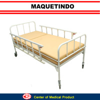 Easy Use Single Crank Hospital Bed for Hospital and Clinic Fullset with Mattress