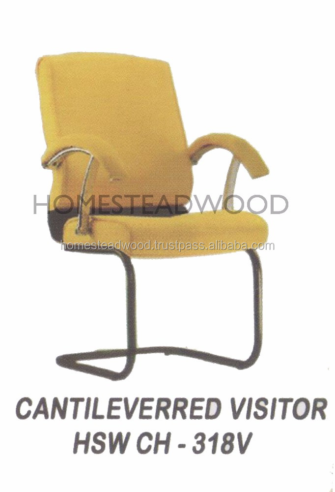 CANTILEVERRED VISITOR FABRIC EXECUTIVE OFFICE CHAIR WITHOUT WHEELS