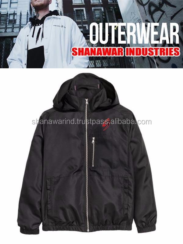 Plain Black Windbreakers Jackets,2017 Premium Windbreaker Jacket ...