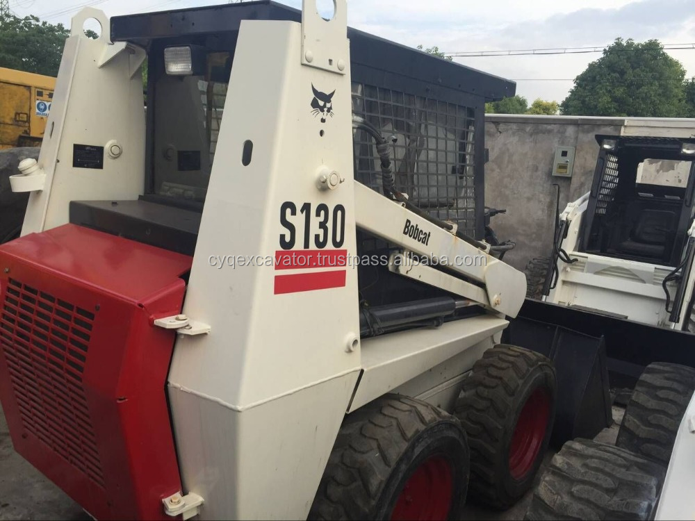 USED MINI LOADER BOBCAT S130 bobcat skid loader small machinery for sale