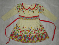 European Style Long Sleeves Cotton Frock for Girls