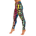 Rainbow Leopard Stretch Fabric Ladies Lagging Ci-73