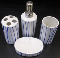 4PCS CERAMIC ACCESSORIES SET