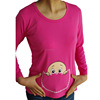 wholasale 100 cotton short sleeve pregnant women maternity t shirt