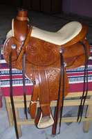 genuine leather hide horse show western pleasure saddle with pad premium quality