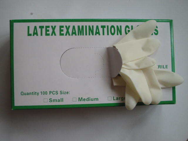 High quality Disposable latex examination gloves