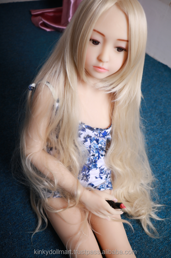 3-Holes Sweet Young Fair Skin Flat Chested No Breast Blonde Hair Girl Doll Love Sex Doll (128cm)