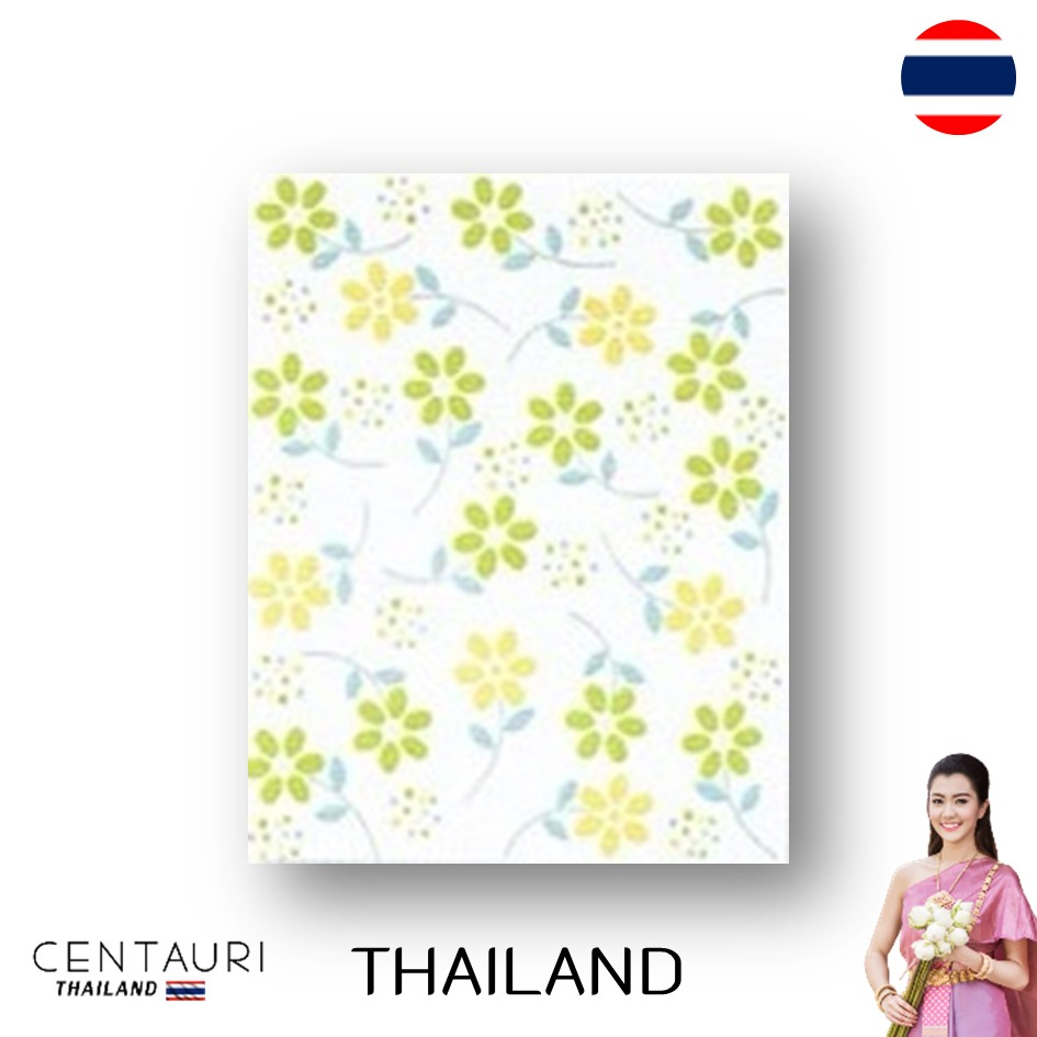 glazed 20*25 cm early green yellow blue white flower pattern Thai porcelain interior tile 200*250 mm new smooth design decorated