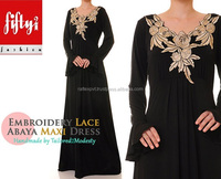 Unique Superb Fashionable Embroidery Designer Modern Long Women's Abaya 2015
