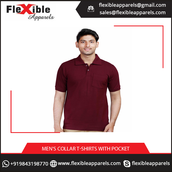 Fine Fabric Comfortable Men's Collar T-Shirts at Low Price