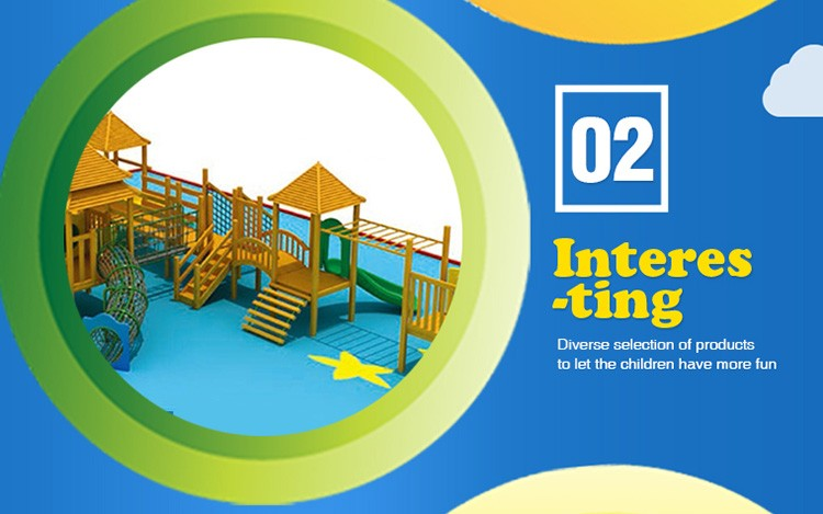 Professional Wooden Playground Outdoor development 1322*1027*415cm Factory price