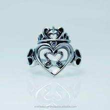 High Quality 925 Sterling thailand handmade good product heart ring silver 925