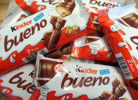 Kinder Delice, Kinder bueno, kinder surprise egg, Kinder Joy, ferrero nutella