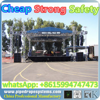 Aluminum truss base plate for moving head light truss stand