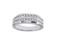 Certified 0.56CT Round Cut Real SI2/G Diamond Mens Ring at Factory Price