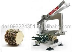The pineapple top and tail cutter PP 500 is used for cutting pineapples to different length.