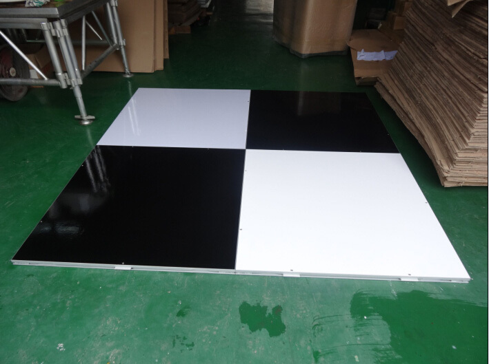 RK Black And White Dance Floor Used Portable Dance Floor for Wedding