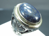 925 Sterling Silver Turkish Ottoman Gemstone Man Ring