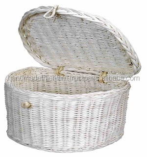 Hand Woven Rattan Laundry Hamper, Natural materials 100% handmade in Vietnam cheap price