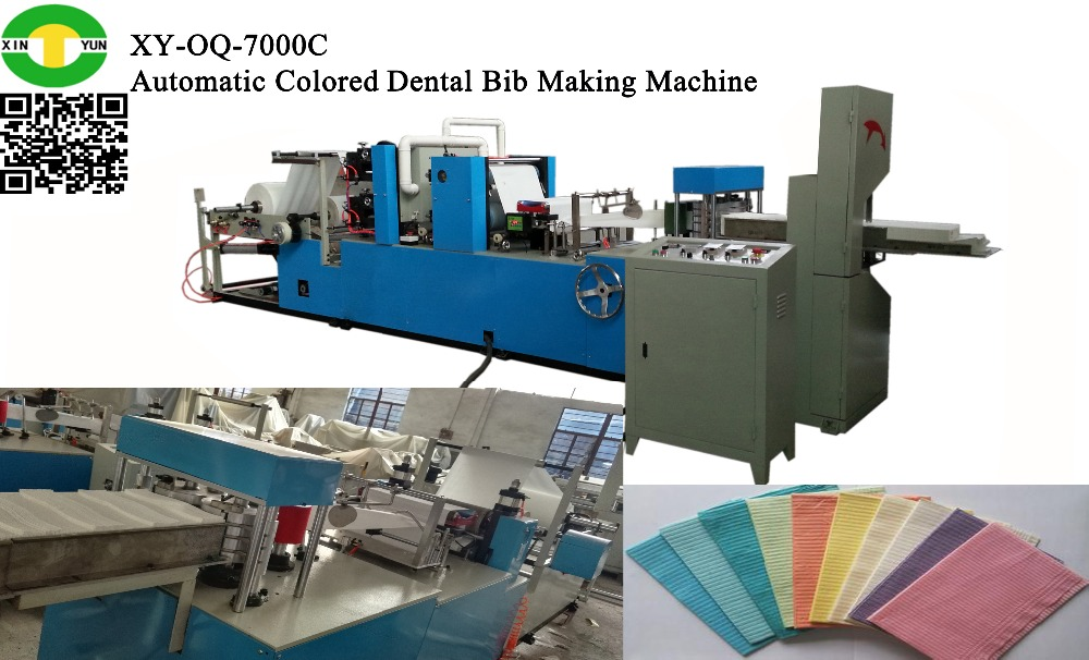 Good Quality Paper Embossing Machine PE Coated Paper Dental Bibs Machine