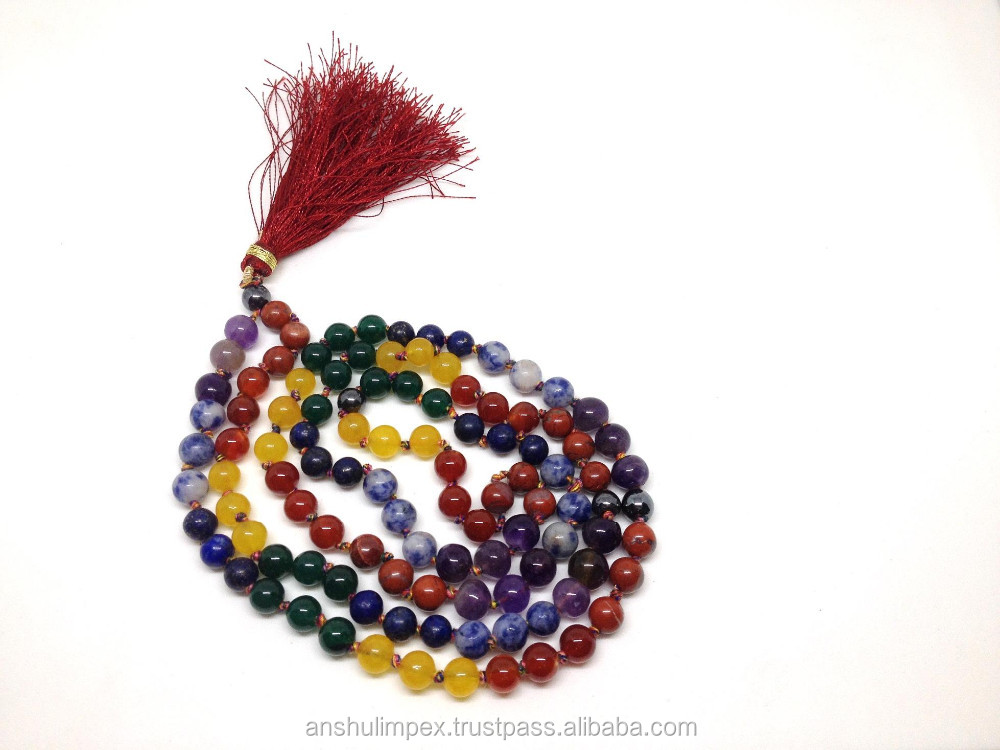 Wholesale mala: Chakra Natural 6mm jap mala, mala beads necklace, rosary, wholesale lot.