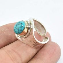 Solid 925 Sterling Silver Designer Turquoise Perfect Ring Jewellery