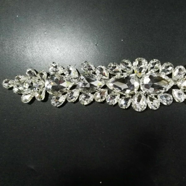 DIY Sew on rhinestone trimming acrylic glass trim