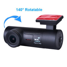 Mini Wi-Fi Dash Camera 1080P G-Sensor Loop Recording Dashboard Camera Recorder Car Dash Cam 160 Degree Wide Angle
