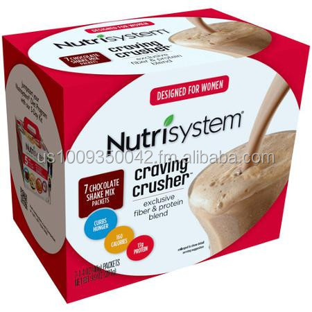 Nutrisystem Craving Crusher, for Women, Chocolate Shake Mix, 7 Count