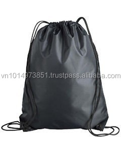 Black double drawstring sport polyester bag