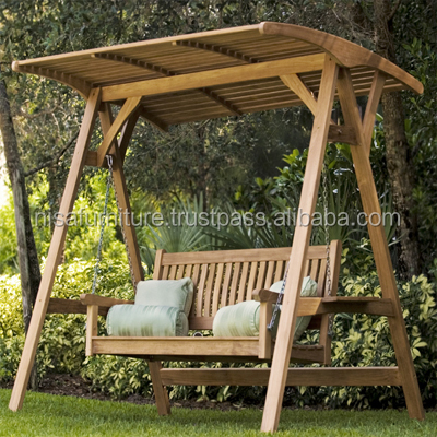 Teak Swing Bench Garden Furniture