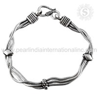 Scrumptious Quality Design Fashion Bracelet 925 Silver Jewelry Indian Silver Jewellery Wholesaler