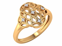 Latest design 2016 Yellow Solid Gold Certified Natural Diamond Prong Womans Ring